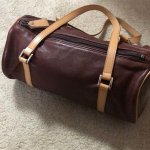 Soft leather brown bag
